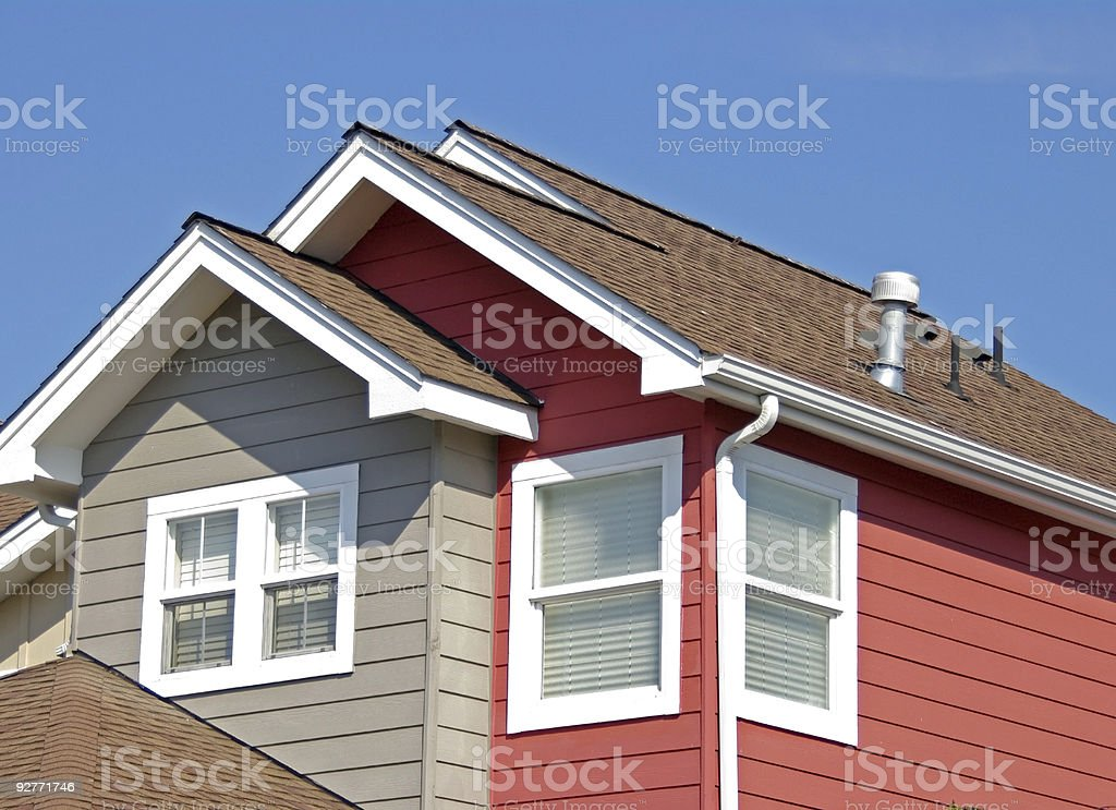 Residential Roof Top stock photo