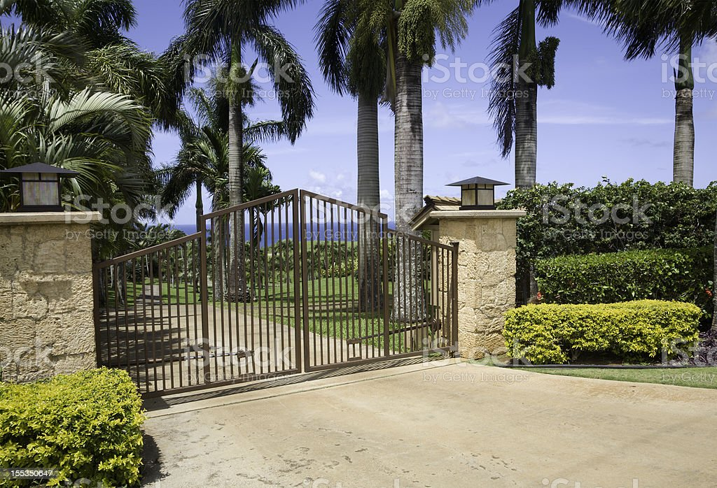Residential Security And Entrance Gates stock photo