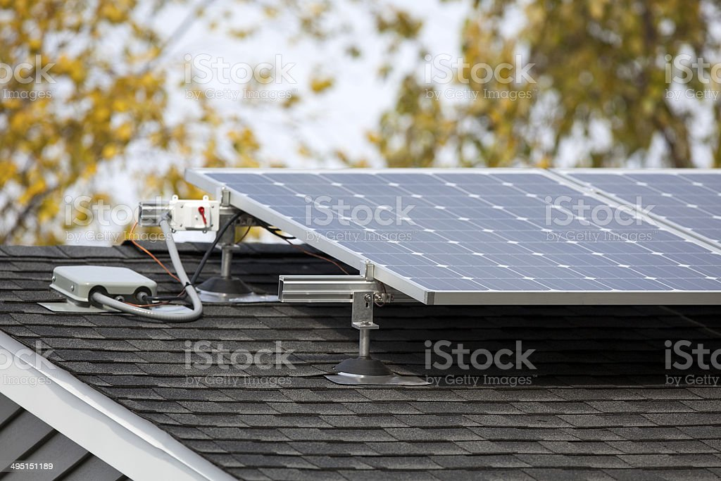 Residential Solar Panels stock photo