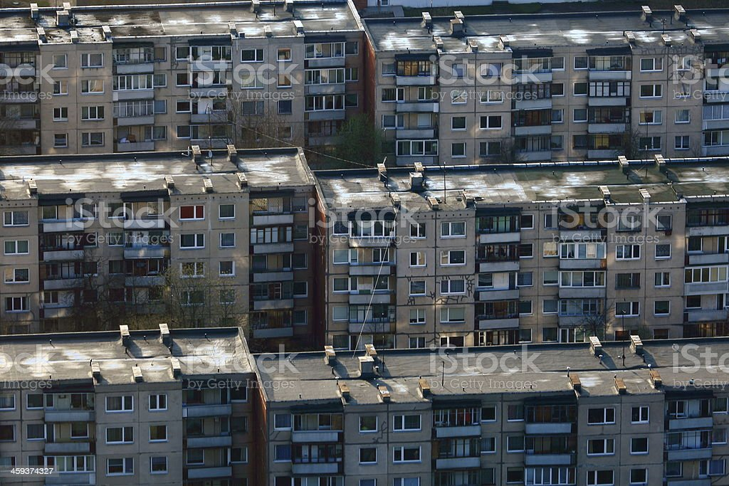 Residential soviet communist era buildings, Vilnius, Lithuania, Baltics royalty-free stock photo