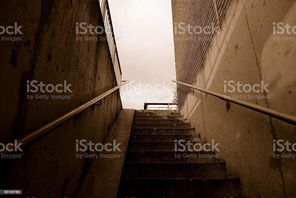 Residential Staircase stock photo