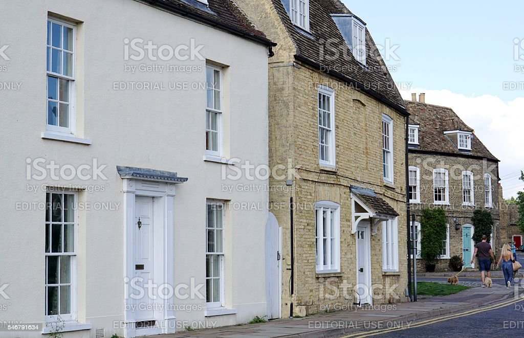 Residential Street In Ely, Cambridgeshire stock photo