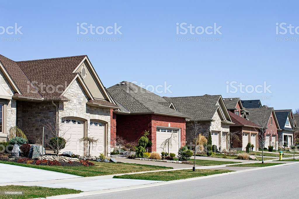 Residential Suburban Street royalty-free stock photo