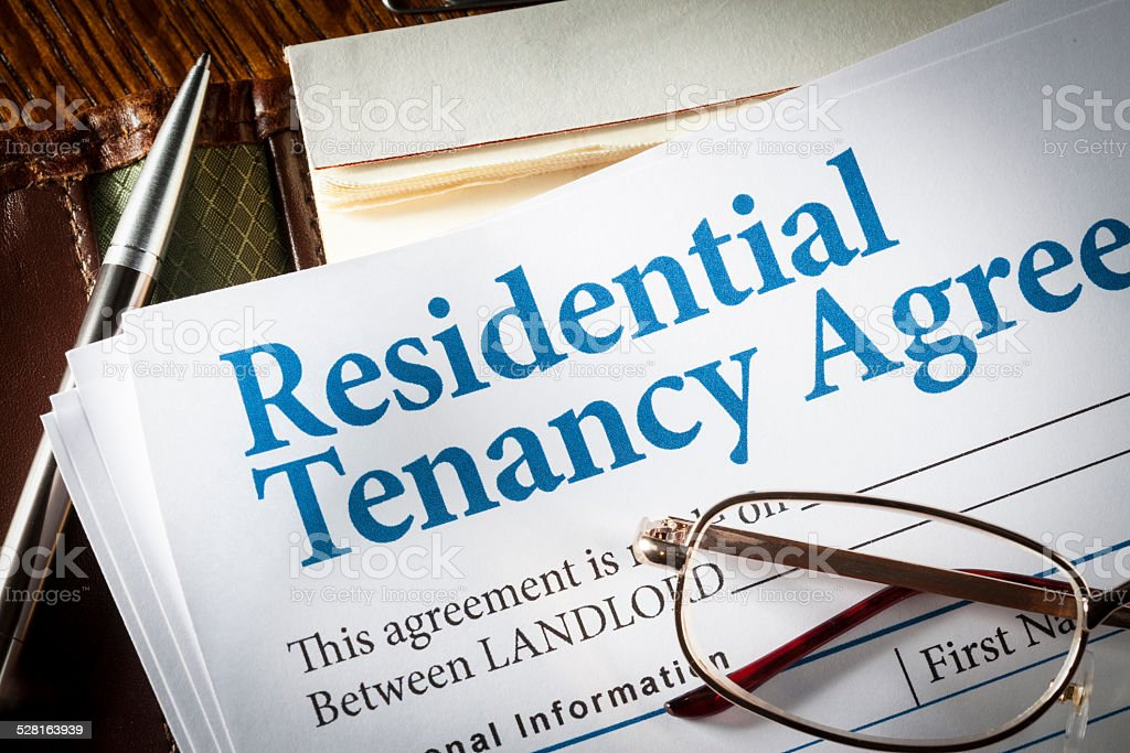 Residential Tenancy agreement stock photo