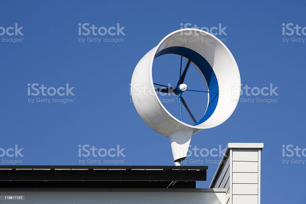 Residential wind turbine royalty-free stock photo