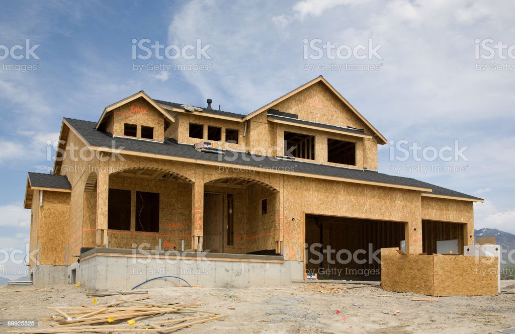 Residentual Home Construction stock photo