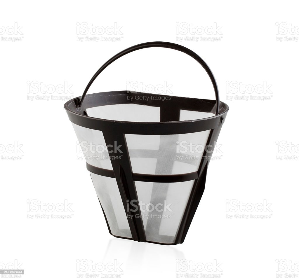 Residue coffee sieve filter cup isolated stock photo
