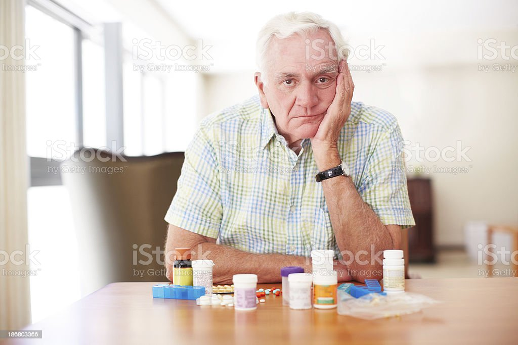 Resigned to dealing with health issues stock photo