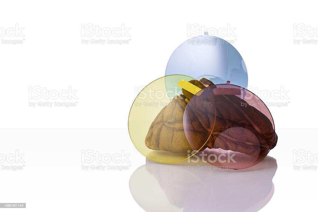 Resin glass for spectacles stock photo