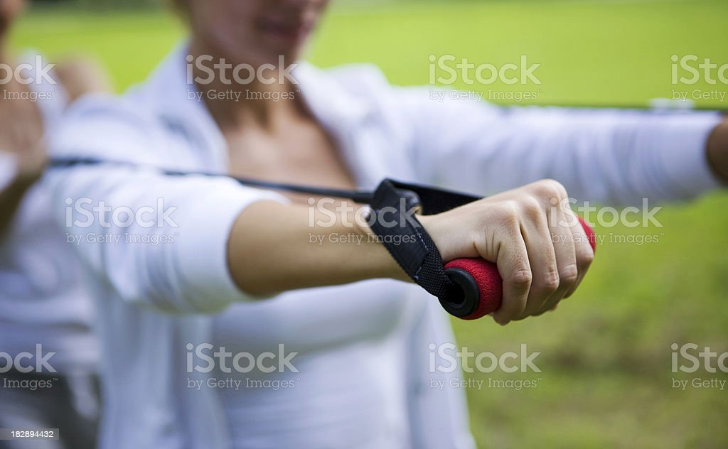 Resistance band stock photo
