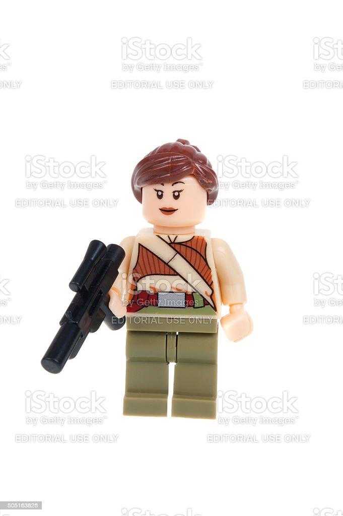 Resistance Fighter Force Awakens Lego Minifigure stock photo