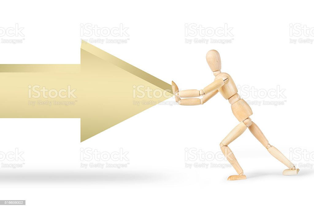 Resistance to the external force stock photo