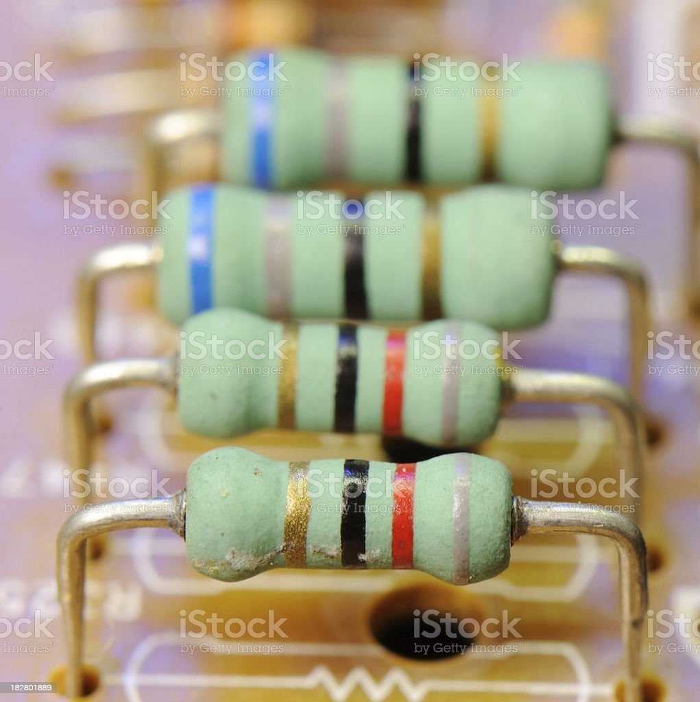 Resistors royalty-free stock photo