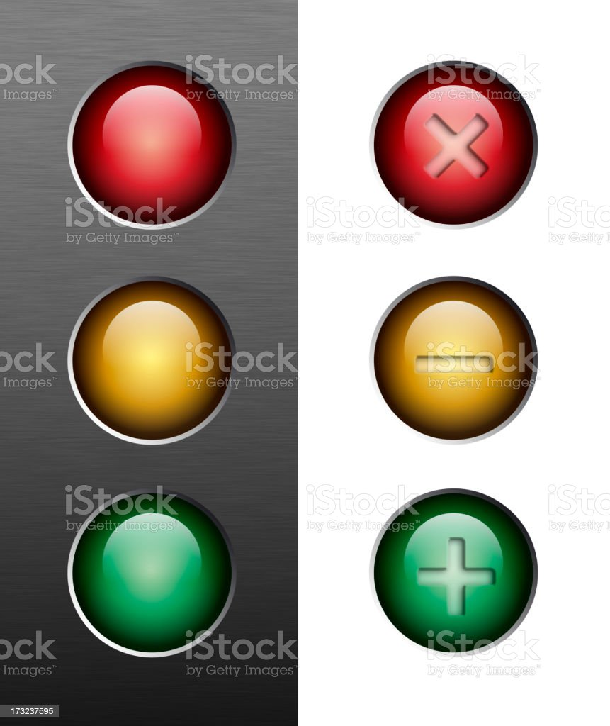 resize buttons | traffic lights royalty-free stock photo