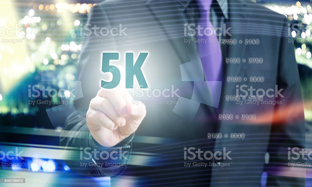 5K Resolution Concept stock photo