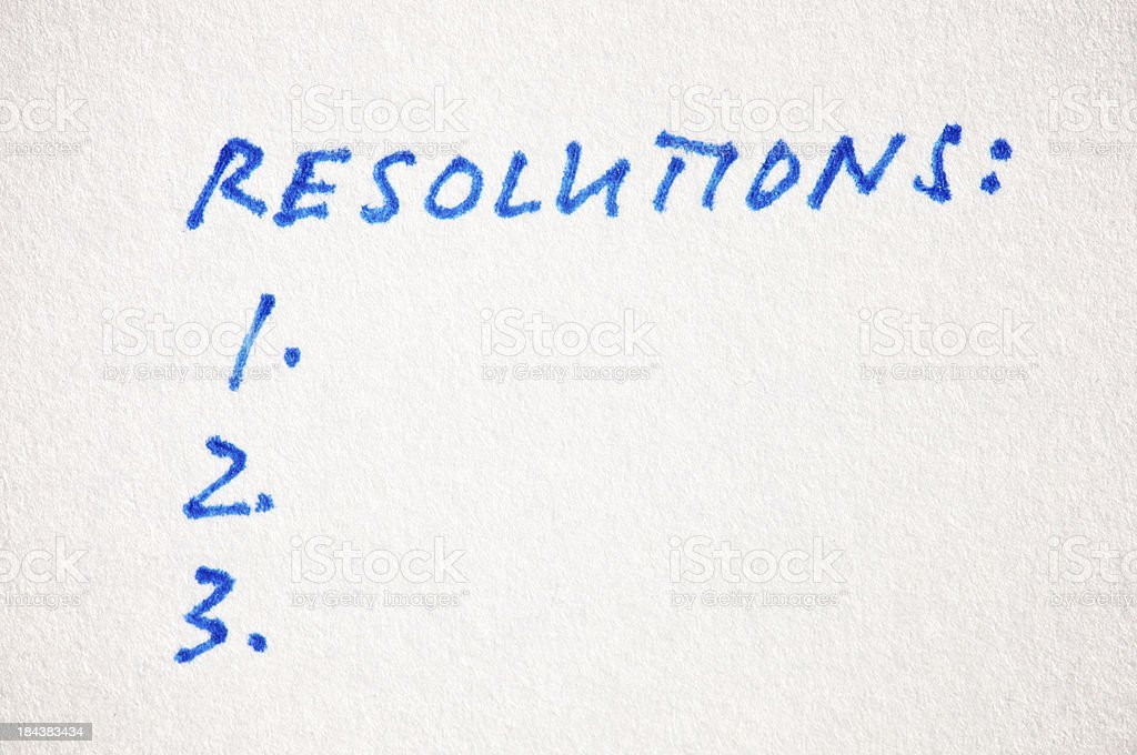 Resolutions List Handwritten on Textured Paper royalty-free stock photo