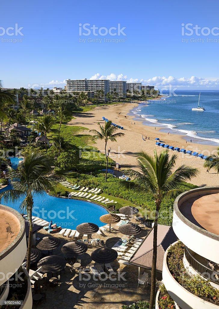 Resort and Beach royalty-free stock photo