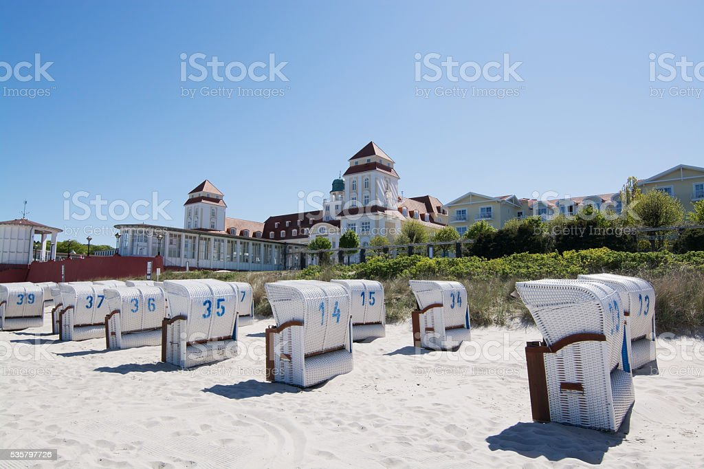 Resort Architecture in Binz, Germany stock photo