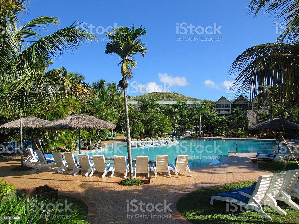Resort at Fiji stock photo