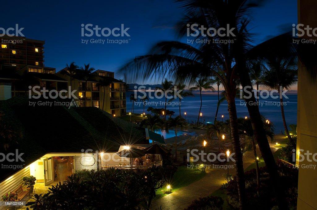 Resort at Night stock photo