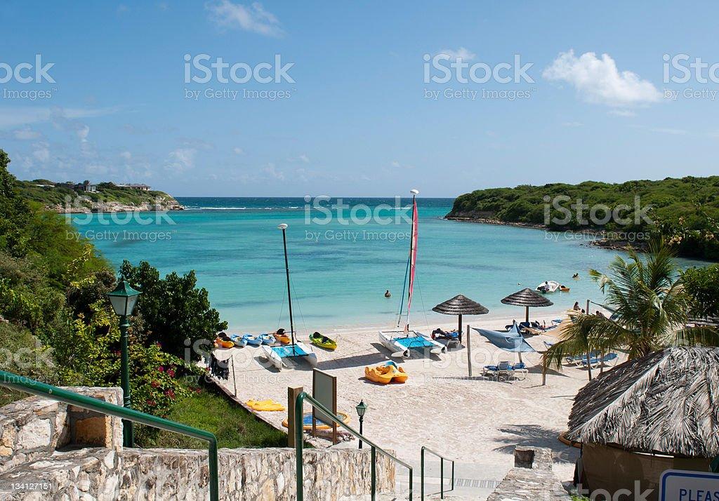 Resort beach stock photo