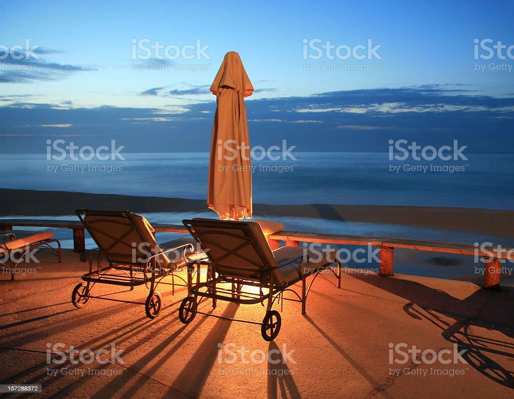 Resort Chairs royalty-free stock photo