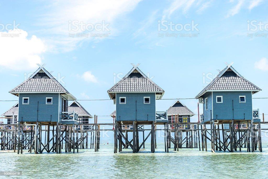 Resort chalet stock photo