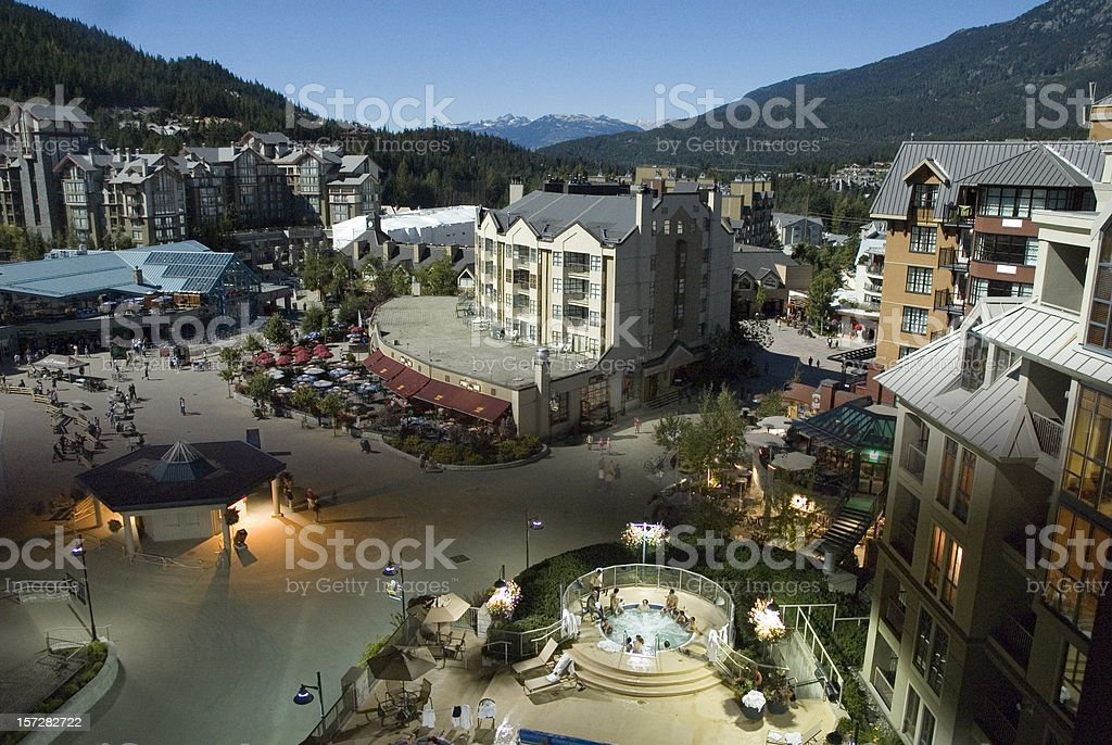 Resort Day And Night 2 royalty-free stock photo