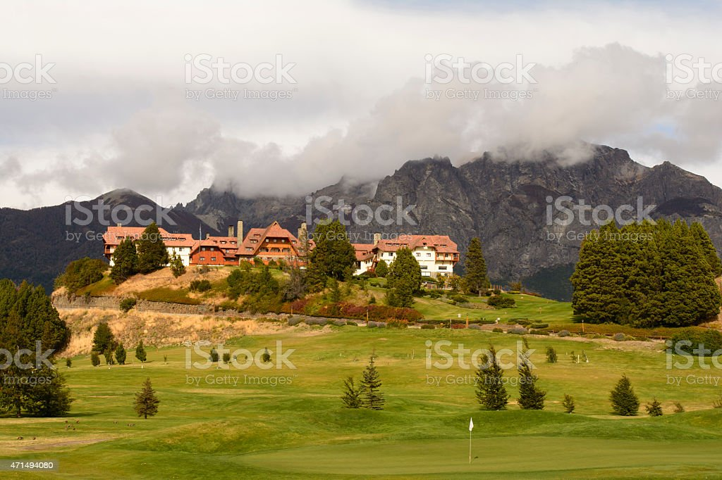 Resort Hotel Llao Llao stock photo