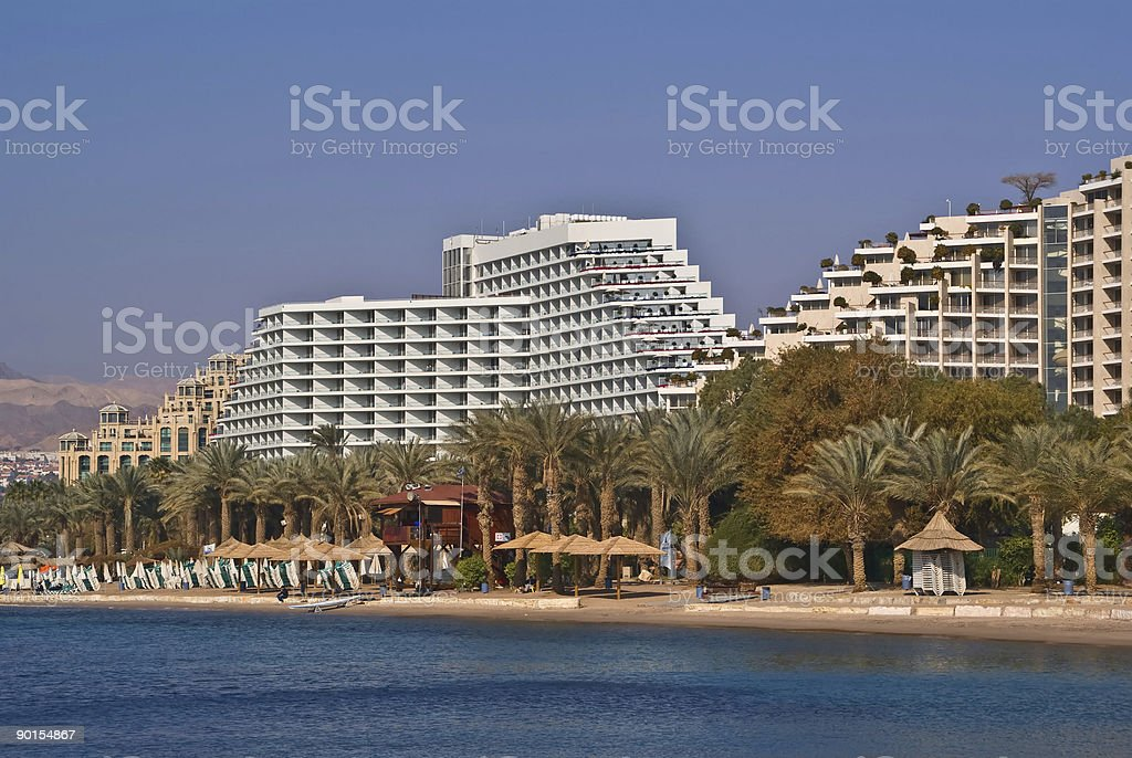 Resort hotels in Eilat royalty-free stock photo