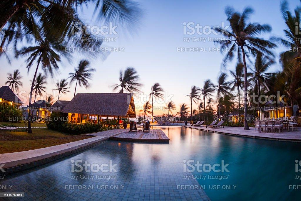 Resort in Gili Islands in Lombok, Indonesia stock photo