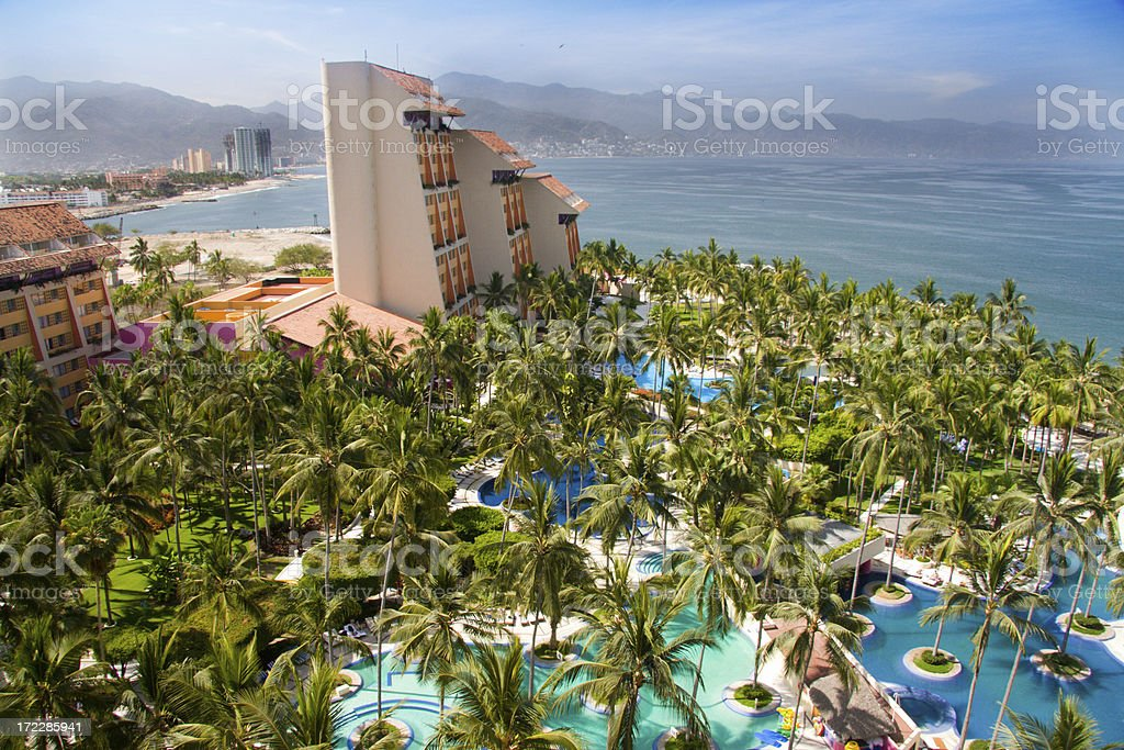 Resort in Puerto Vallarta Mexico stock photo