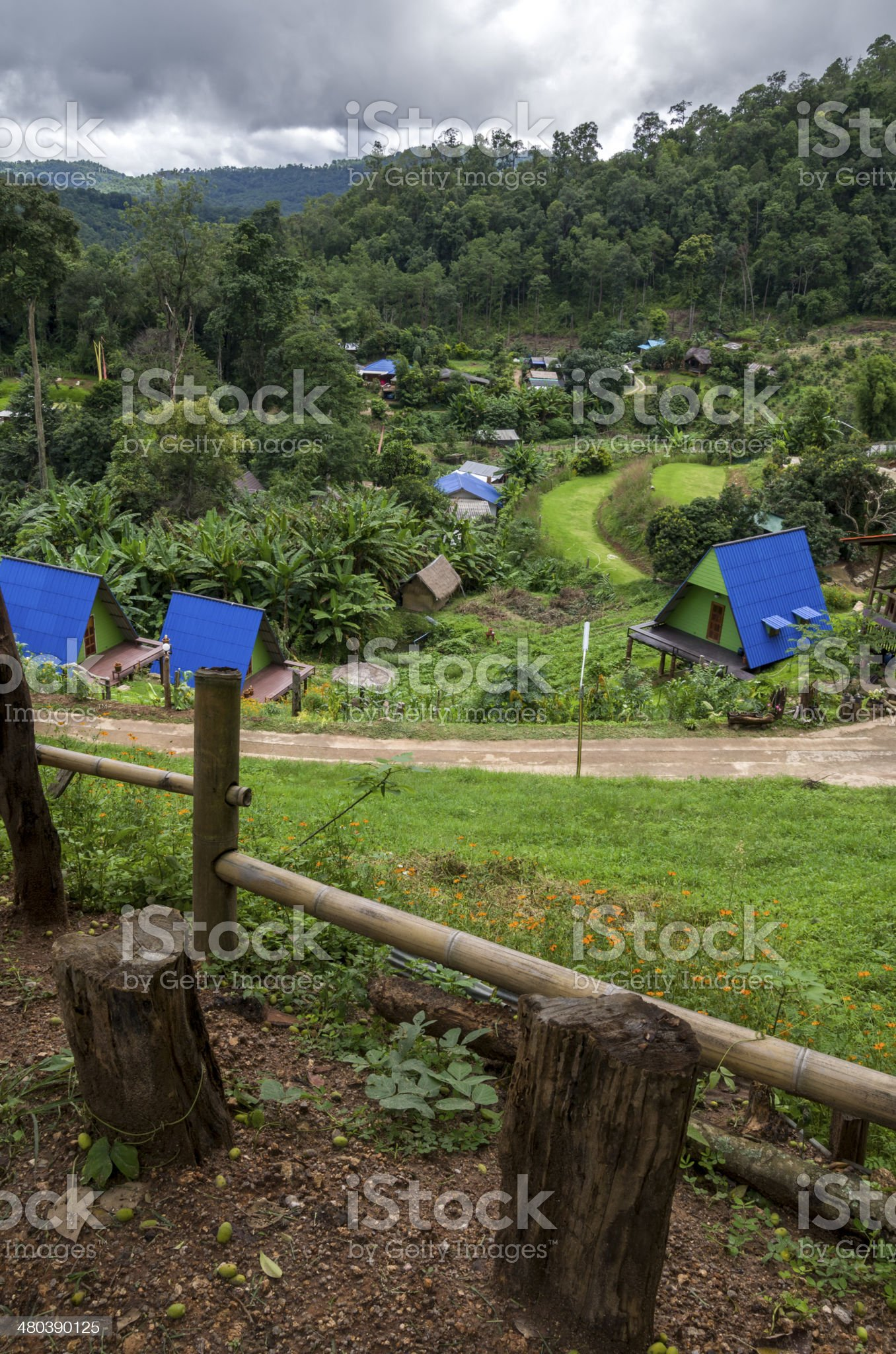 Resort in the rainforest in Thailand royalty-free stock photo