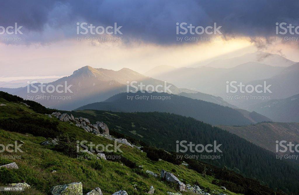 Resort Jasna in Slovakia mountain stock photo