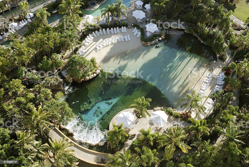 Resort Living royalty-free stock photo