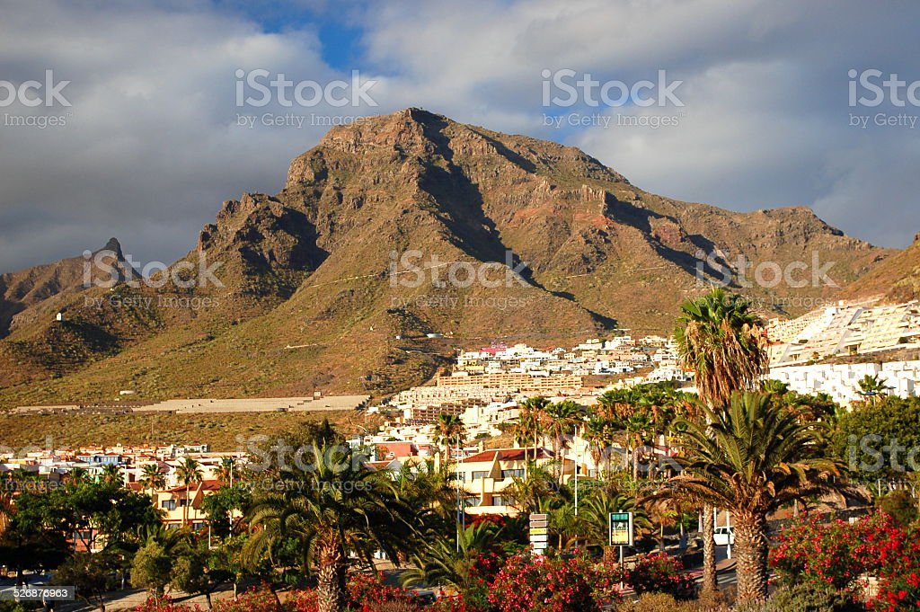 resort playa de las americas on tenerife, canary islands, spain stock photo