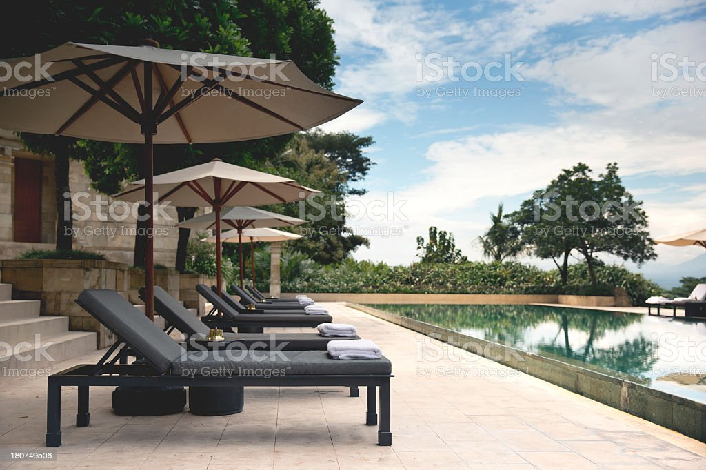 Resort Pool at Amanjiwo royalty-free stock photo