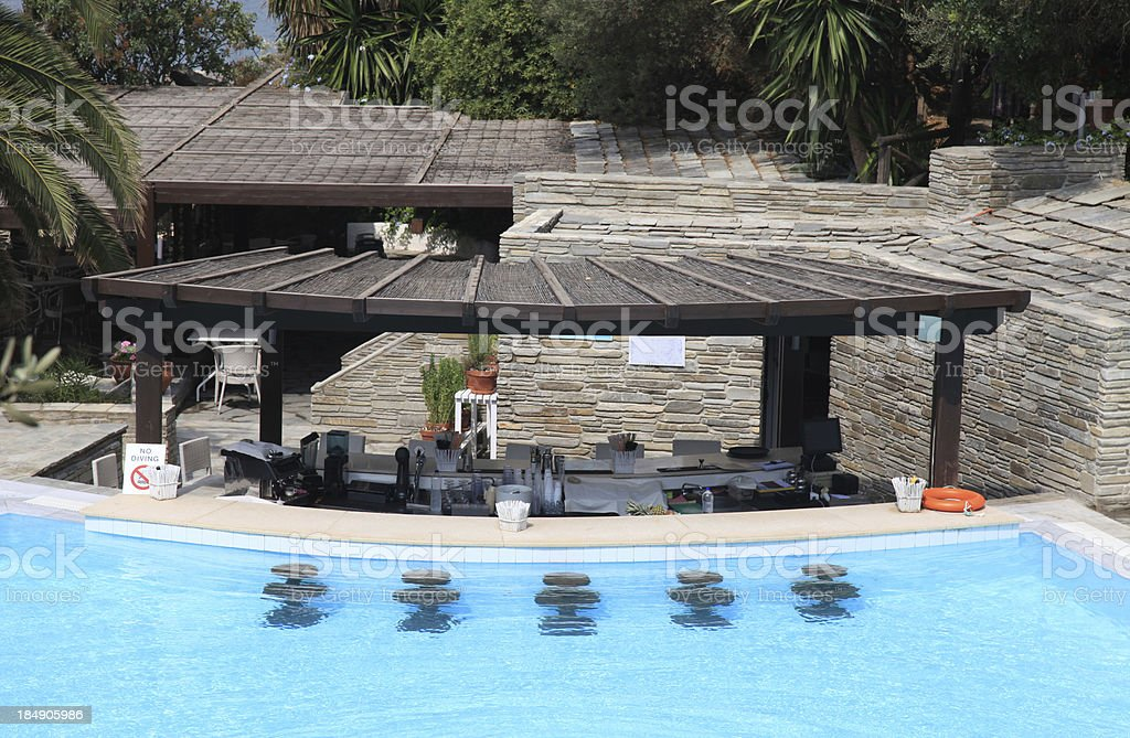 resort pool bar royalty-free stock photo