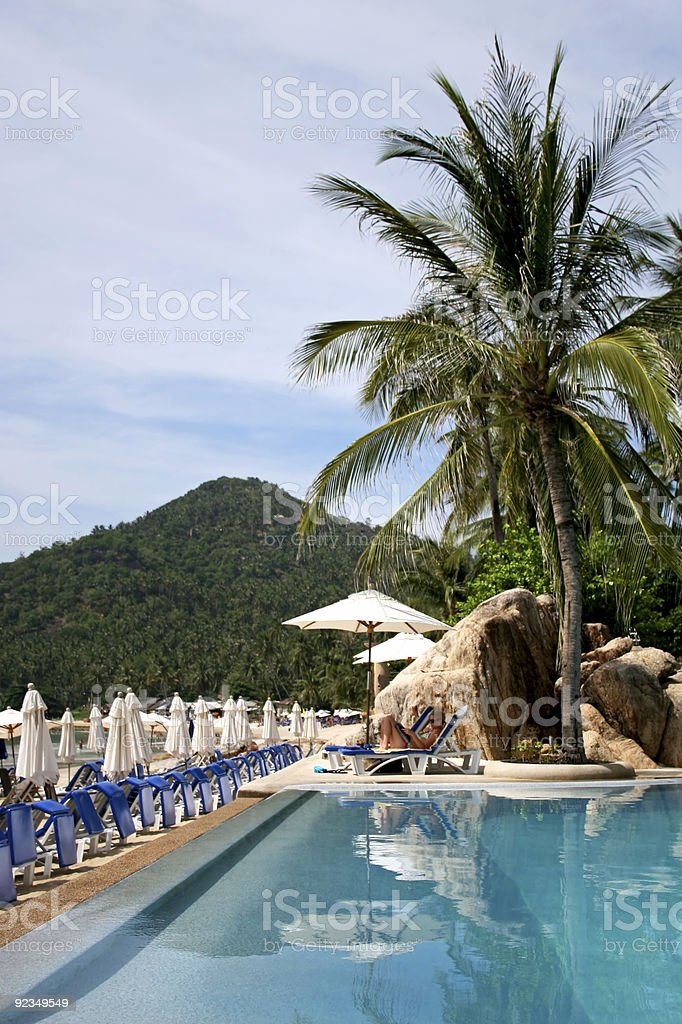 resort pool beachside 2 royalty-free stock photo