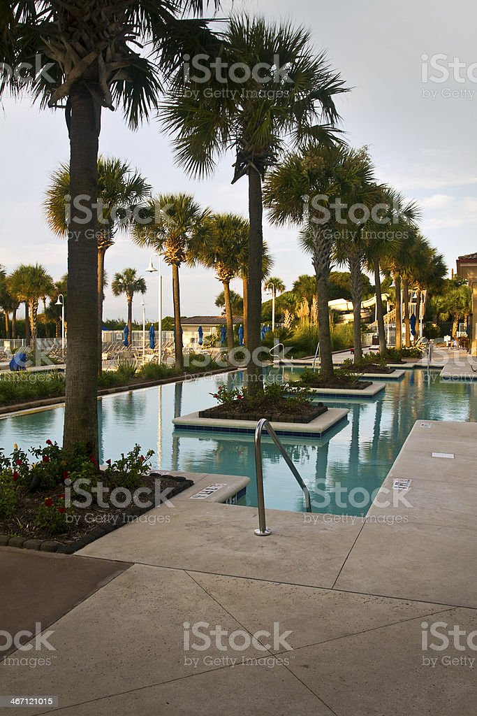 Resort Pool royalty-free stock photo