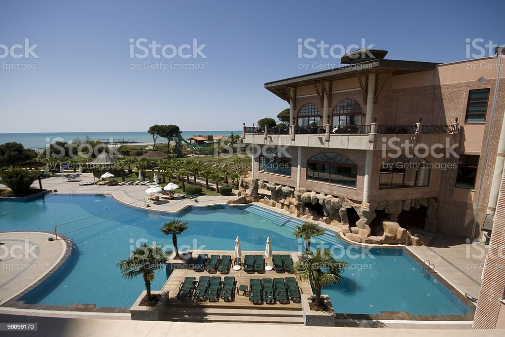 Resort pool stock photo