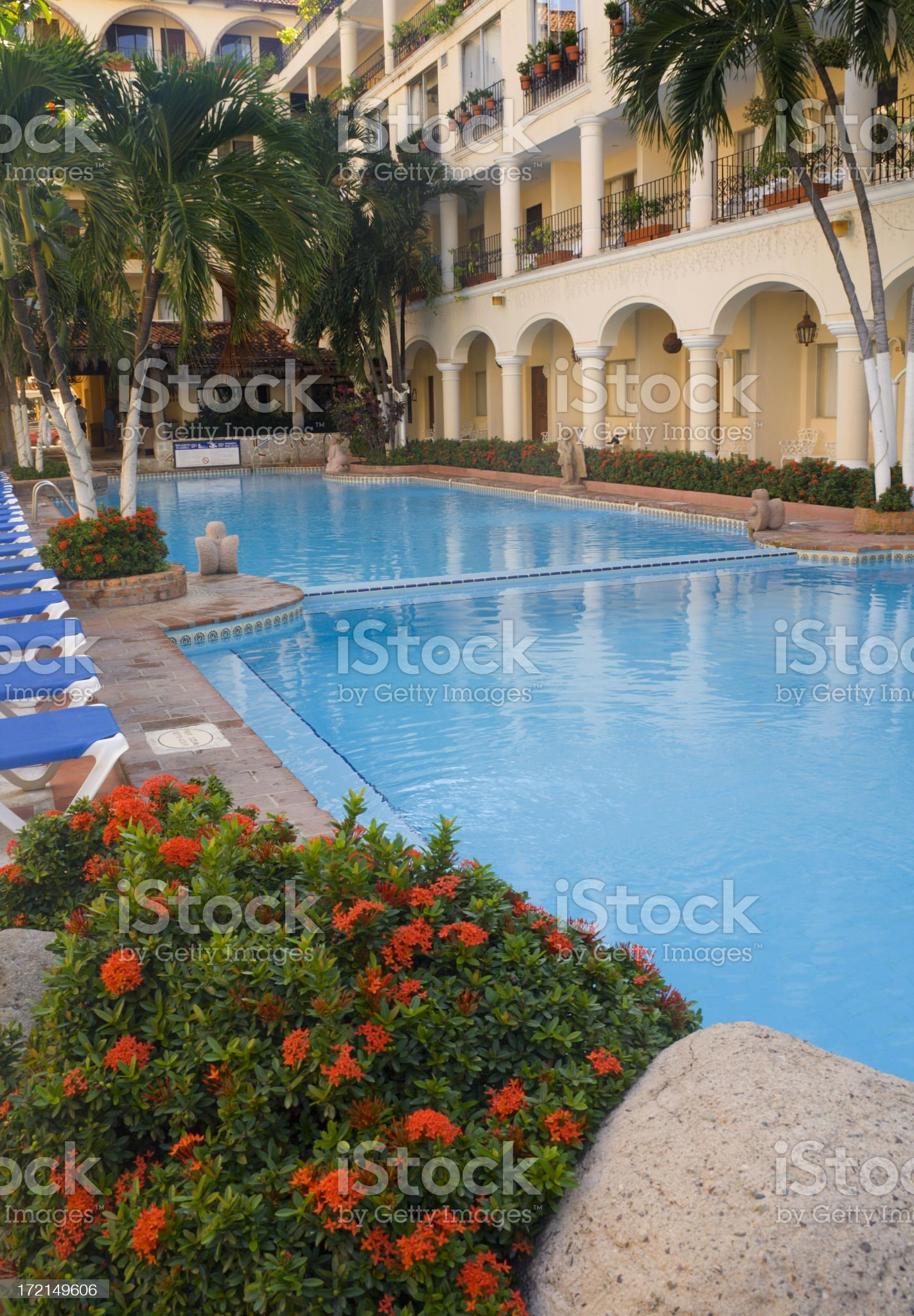 Resort Pool Vt royalty-free stock photo