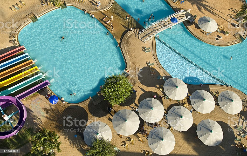 Resort Slides and Pool royalty-free stock photo