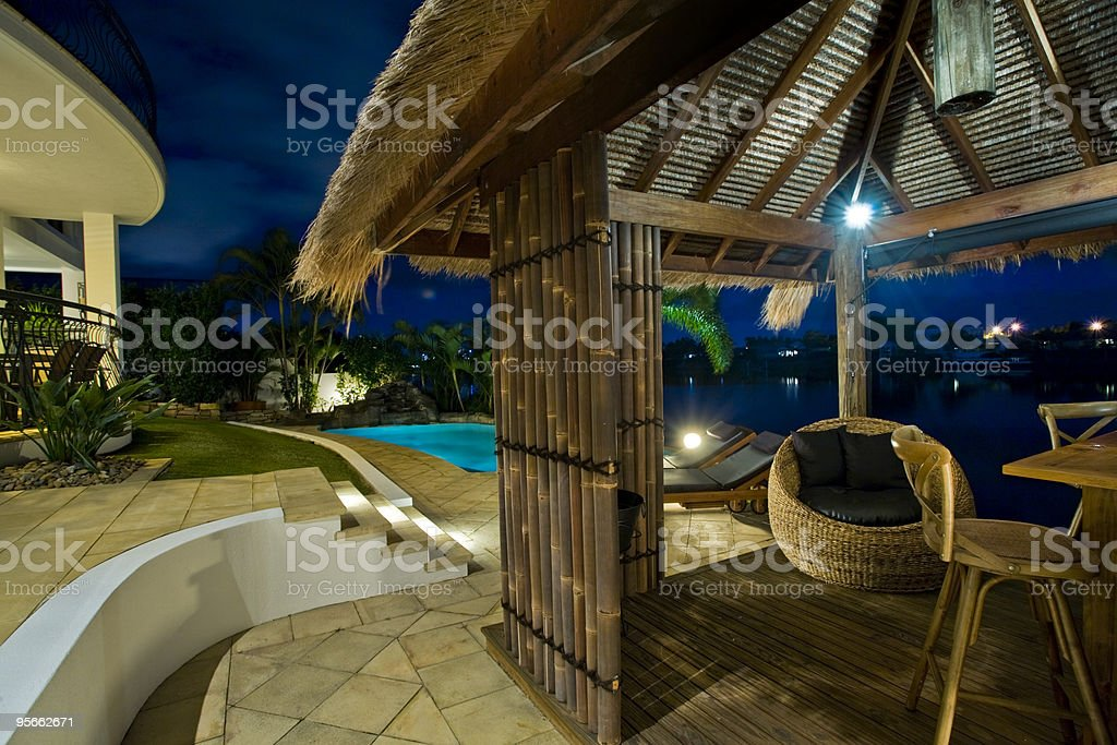 Resort style living royalty-free stock photo
