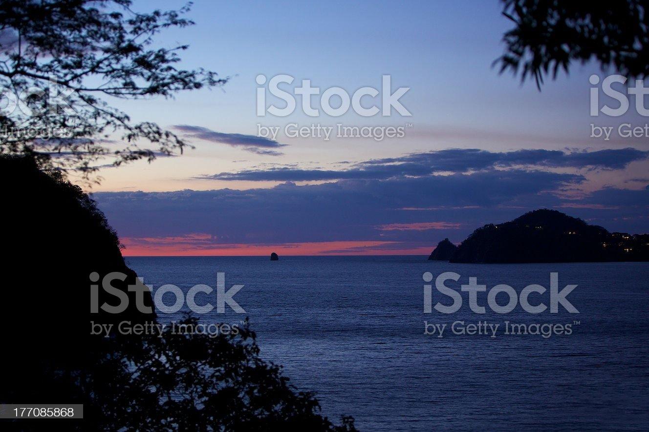 Resort Sunset royalty-free stock photo