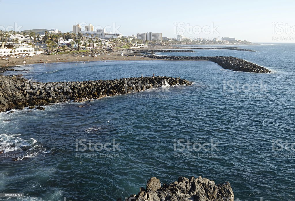 Resort view, Tenerife royalty-free stock photo