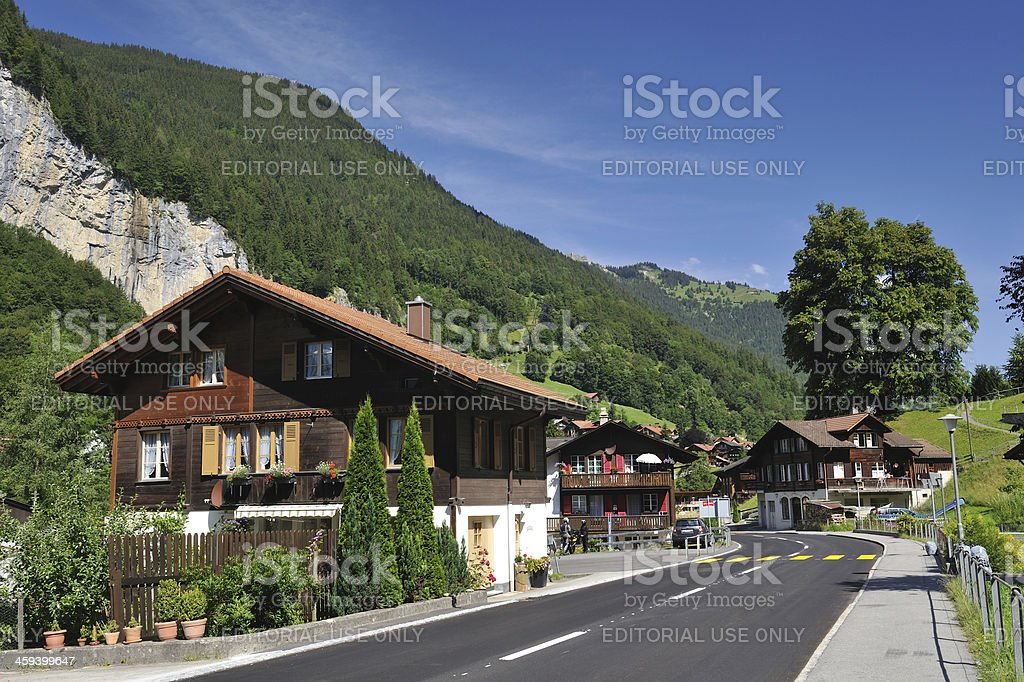 Resort Village Lauterbrunnen royalty-free stock photo