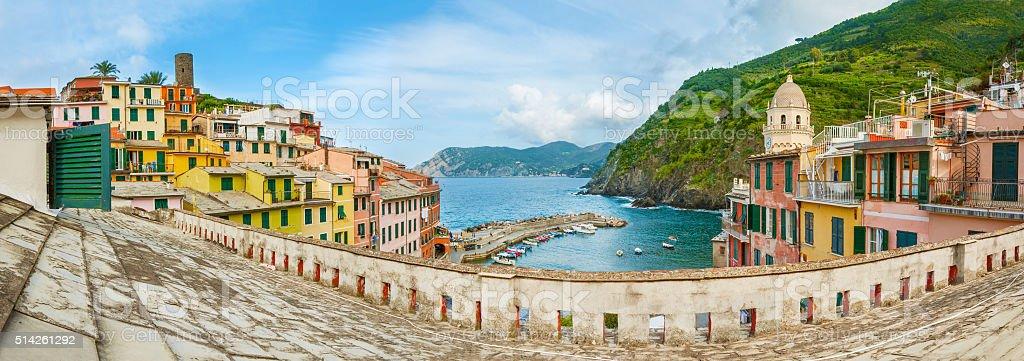 Resort village Vernazza, Cinque Terre, Italy stock photo