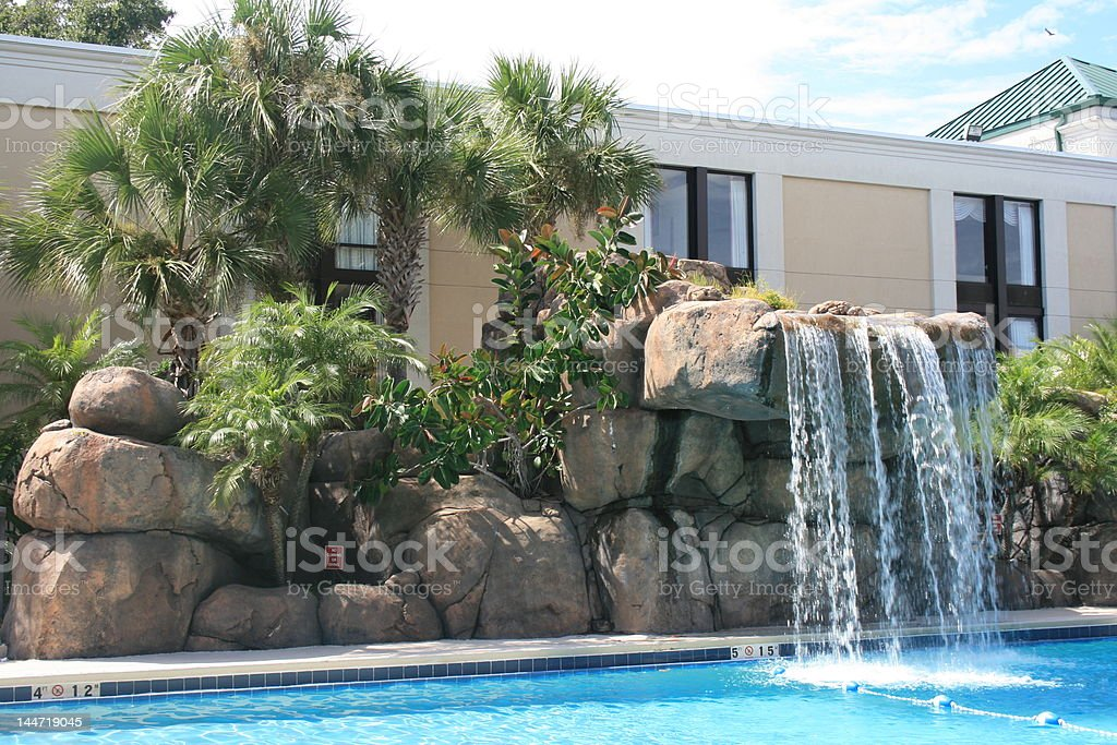 Resort Waterfall royalty-free stock photo