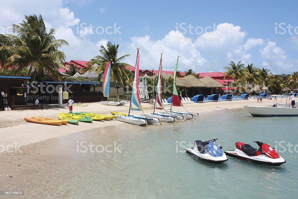 Resort Watersports stock photo